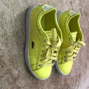 Lacoste Shoes | Yellow Leather Sneakers